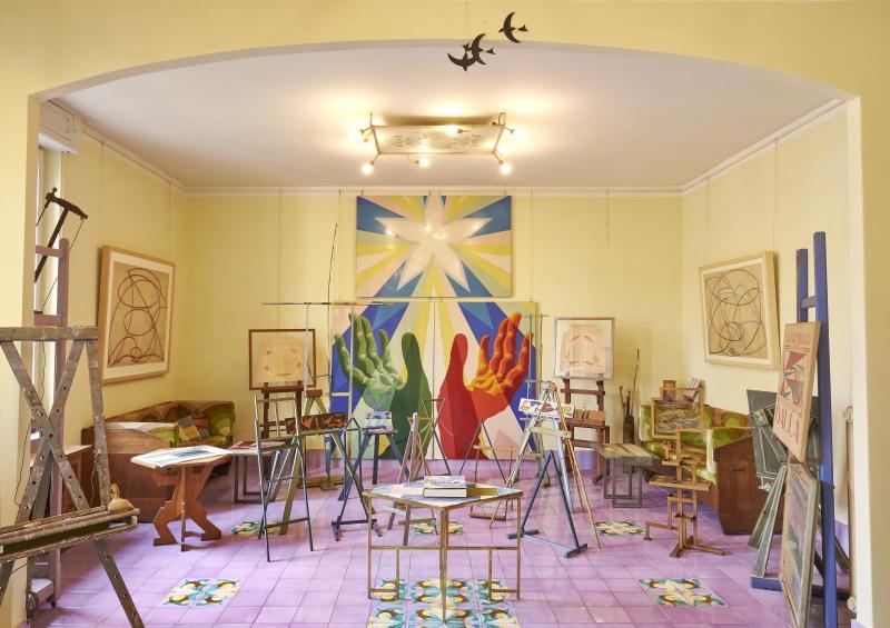 CASA BALLA, Via Oslavia  Soggiorno / Living room Foto M3Studio Courtesy Fondazione MAXXI © GIACOMO BALLA, by SIAE 2021