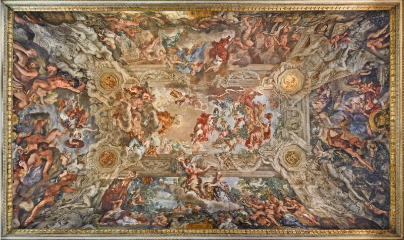 Il Trionfo della Divina Provvidenza e il compiersi dei suoi fini sotto il pontificato di Urbano VIII, Pietro da Cortona