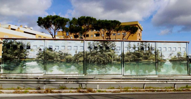 Museo di Casal de' Pazzi - murale esterno