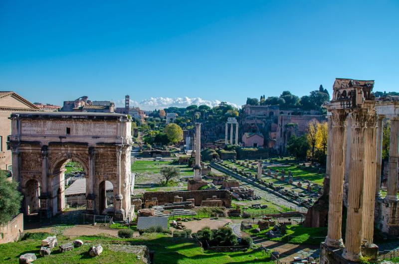 Musei Capitolini_Tabularium _Affaccio sul Foro Romano