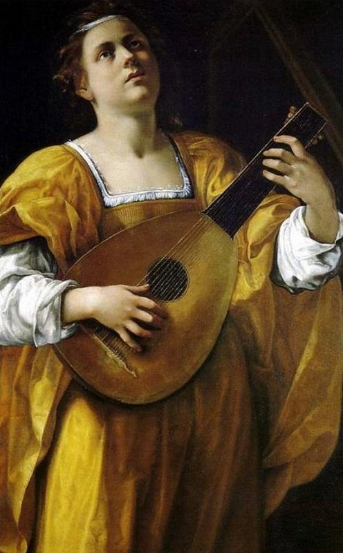Santa Cecilia - Artemisia Gentileschi, 1620