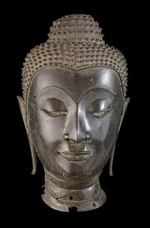 Testa Buddha stile sukhothai sec. XV-XVI