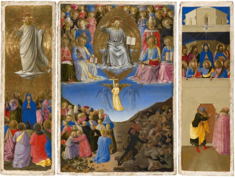 Trittico (Ascensione, Giudizio Universale, Pentecoste), Beato Angelico