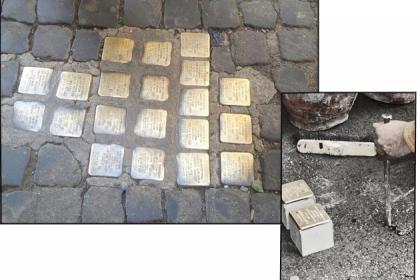 Memorie d'inciampo a Roma, le Stolpersteine