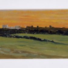 Diego Angeli, Via della Travicella (San Sebastiano) 1934, olio su cartone