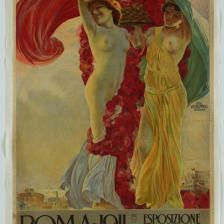 Aleardo Terzi, Manifesto per l'Esposizione Internazionale Roma 1911, Civica raccolta delle stampe A. Bertarelli, Castello Sforzesco