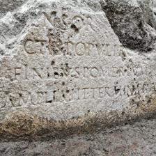 Cippo pomeriale, piazza Augusto Imperatore