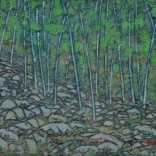Garth Speight, Bosco, acrilico, cm. 35x22