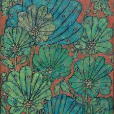 Garth Speight, Fiori di fantasia, acrilico, cm. 30x40