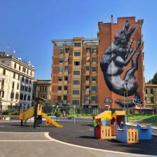 Murales Lupa via Galvani