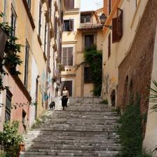 Rione Monti, scalinata via de' Ciancaleoni - Foto Turismoroma L. Dal Pont