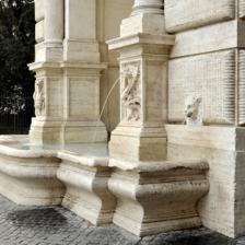 Fontana in piazza Trilussa, particolare