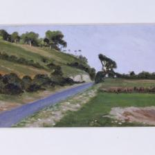 Diego Angeli, Senza titolo 1886-1936, olio su cartone