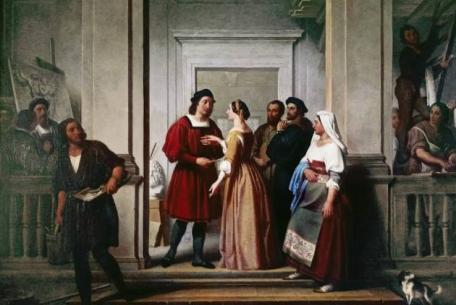 Filippo Bigioli - La Fornarina visita Raffaello, Galleria comunale d'arte moderna San Severino Marche