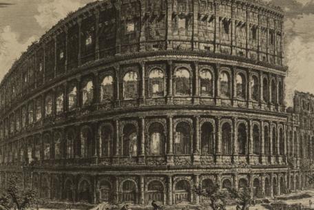 IV 9, Piranesi, Kolosseum, Außenansicht