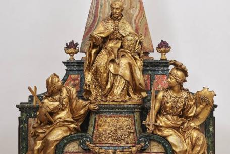 Pierre-Etienne MonnotModello del monumento funebre di Innocenzo XI Odescalchi, 1697ca. Gallerie Nazionali di Arte Antica