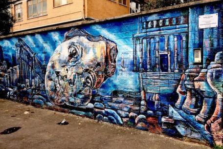 Opera di street art realizzata da Carlos Atoche
