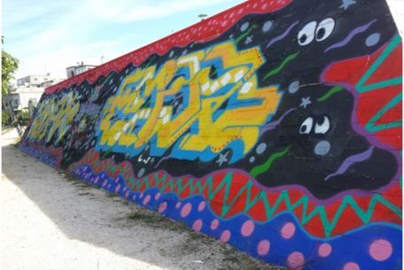 """Murale """"Dans la Rue"""""""
