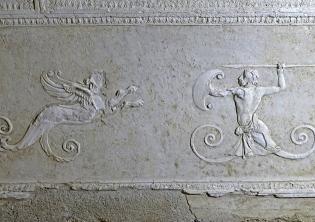 Basilica di Porta Maggiore: particolare degli stucchi
