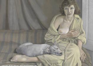 "L. Freud ""Girl with a White Dog"" @Tate"
