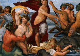 Raffaello in Villa Farnesina: Galatea e Psiche